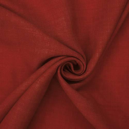 Tissu aspect lin rouge