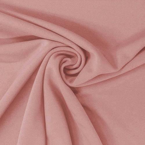 Tissu scuba crêpe uni rose poudré