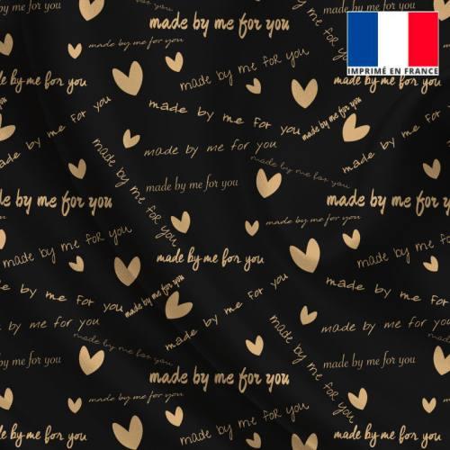 Satin noir imprimé made by me for you