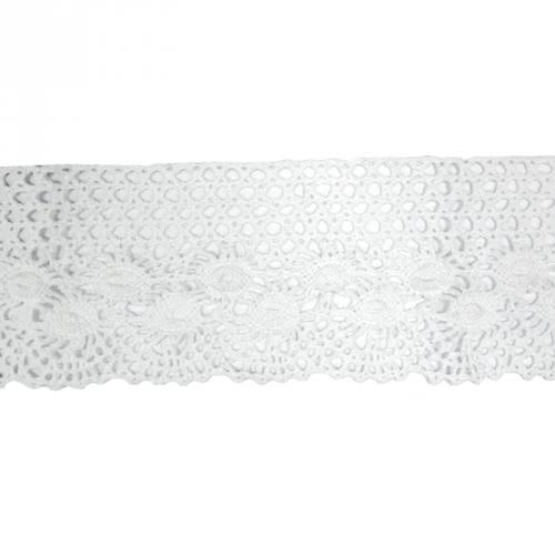 Ruban de dentelle en coton blanc 8,5 cm