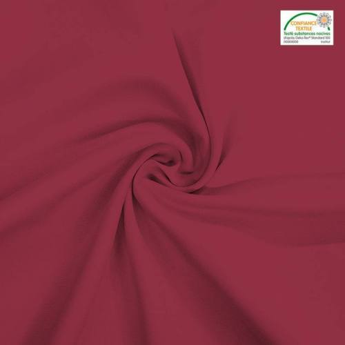 Rouleau 27m burlington infroissable Oeko-tex bordeaux 280cm grande largeur