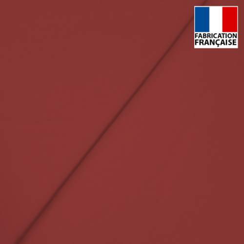 Popeline de coton mercerisé rouge amarante