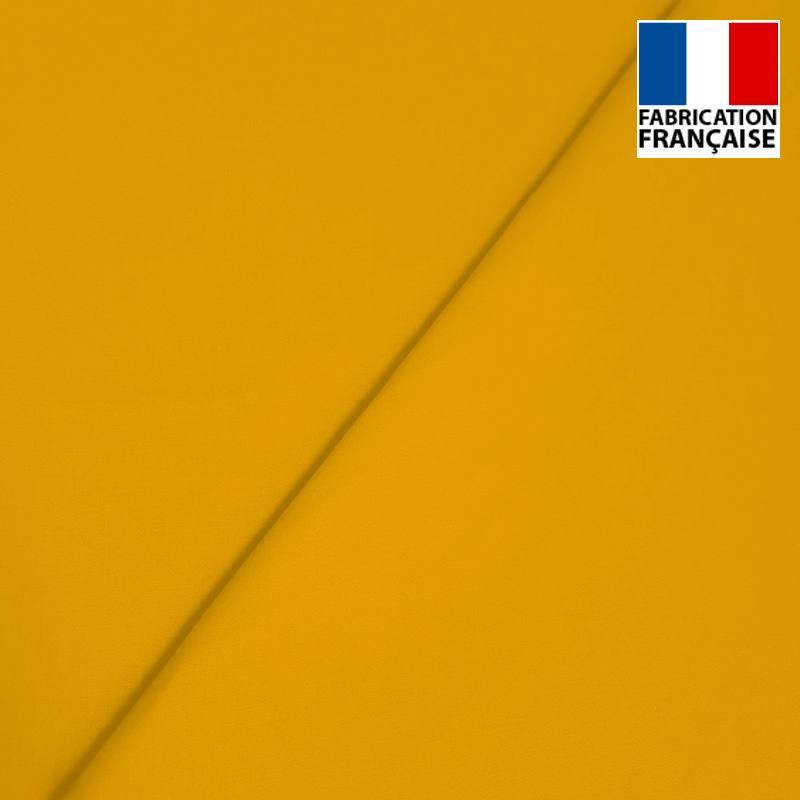 Popeline de coton mercerisé jaune ocre