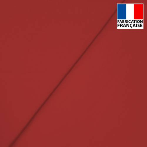 Popeline de coton mercerisé rouge