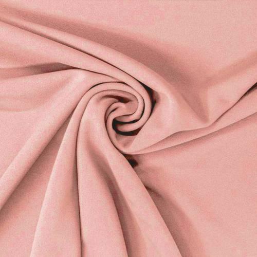 Tissu scuba crêpe uni rose pastel