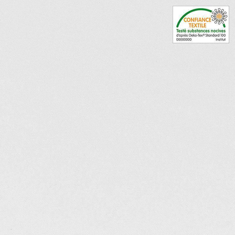 Rouleau 25m burlington infroissable Oeko-tex blanc 280cm grande largeur