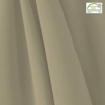coupon - Coupon 88cm - Tissu occultant grande largeur gris perle thermique et phonique
