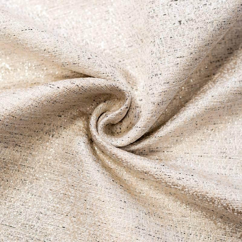 Tissu chanell crème et lurex argenté