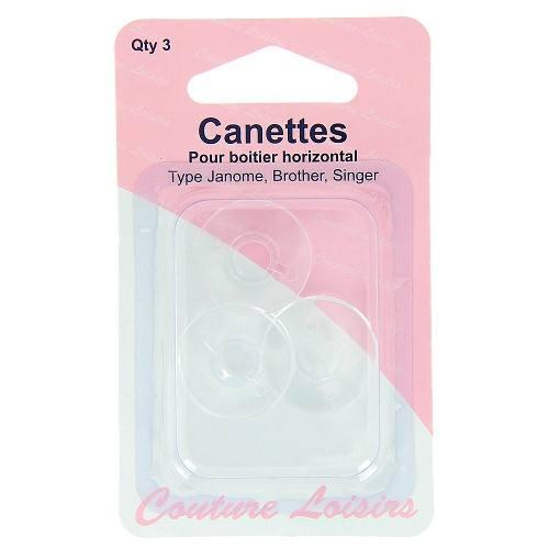 Canettes plates plastique X3