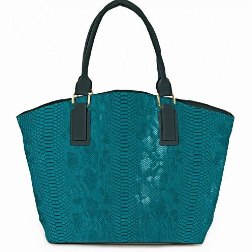 Coupon 50x68cm - Simili cuir Dragon turquoise