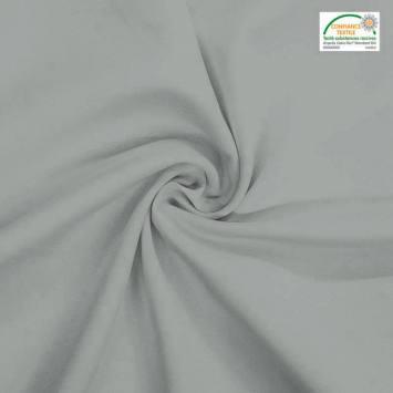coupon - Coupon 42cm - Burlington infroissable Oeko-tex gris perle