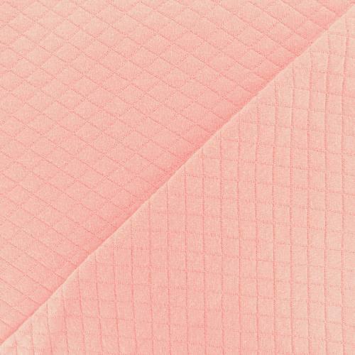 Jersey de coton matelassé rose clair