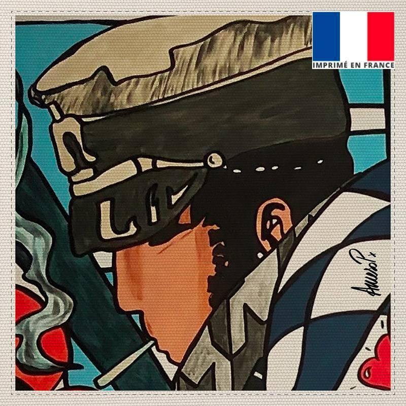 Coupon toile canvas aventurier - Création Anne-Sophie Dozoul