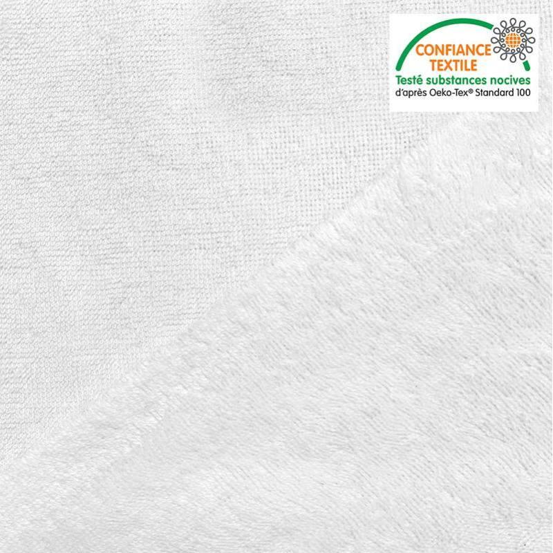 Tissu éponge bambou couleur blanche