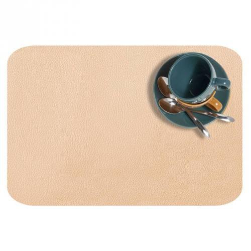 Coupon 50x68cm - Simili cuir dolaro beige nacré