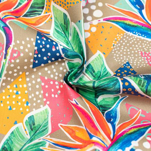 Toile extérieure Téflon multicolore motif paradis