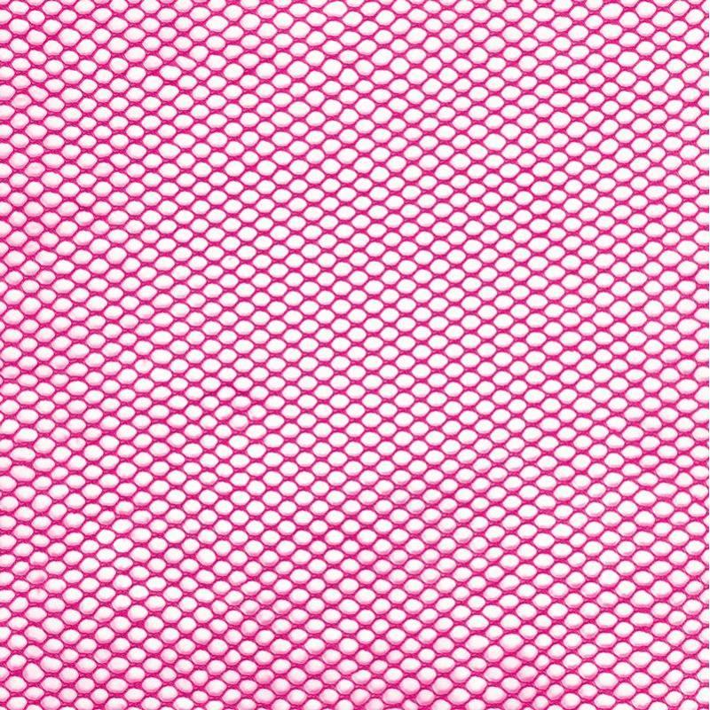 Filet mesh rose fuchsia