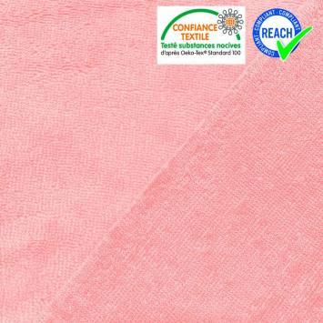 Eponge doudou bambou rose clair double face
