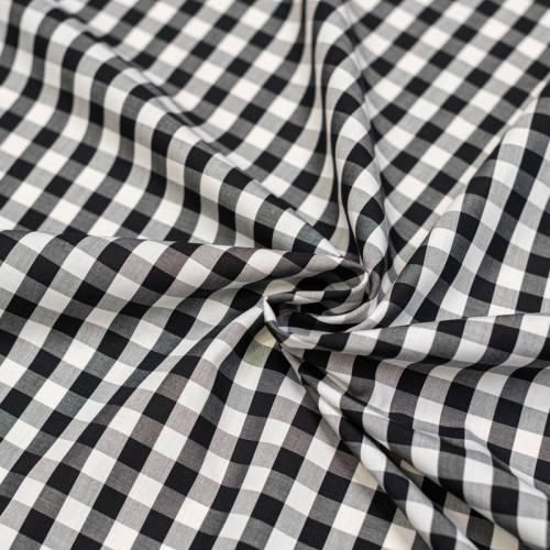 Coton vichy noir 10 mm