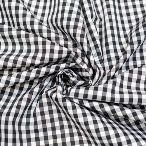 Coton vichy noir 6 mm