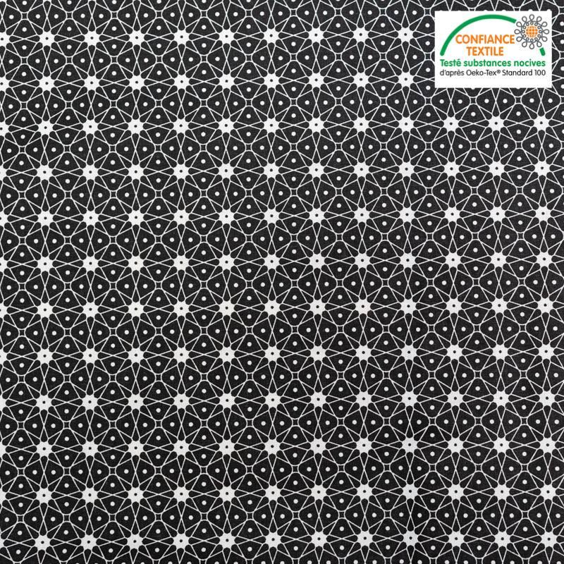 Coton noir motif ceramik