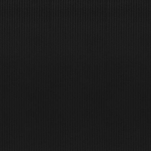 Velours côtelé d'ameublement noir