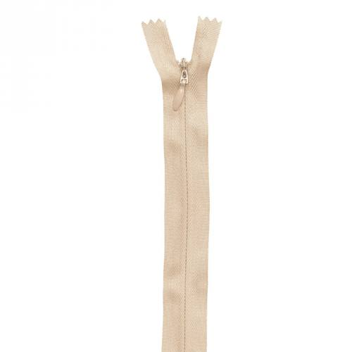 Fermeture crème à glissière invisible 40 cm col 371