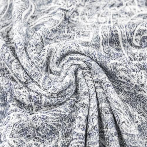 Lainage fin extensible motif gauss gris de lin