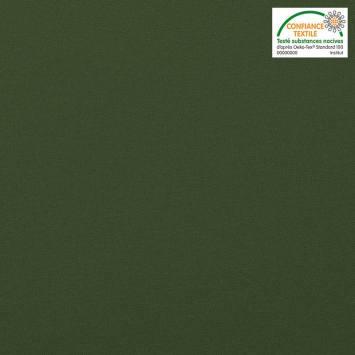 coupon - Coupon 98cm - Coton vert forêt uni oeko-tex