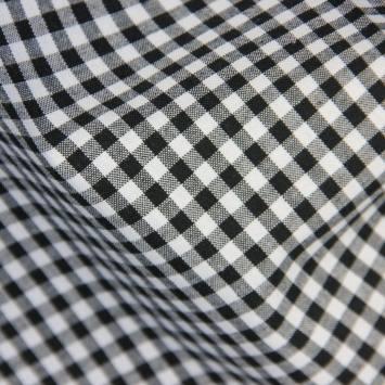 Coton vichy noir 5 mm