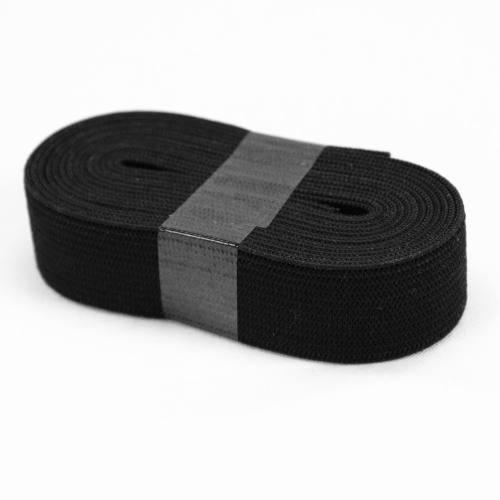 Coupon 2m50 élastique souple noir 20 mm