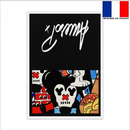 Coupon pochette canvas motif paff - Création Anne-Sophie Dozoul
