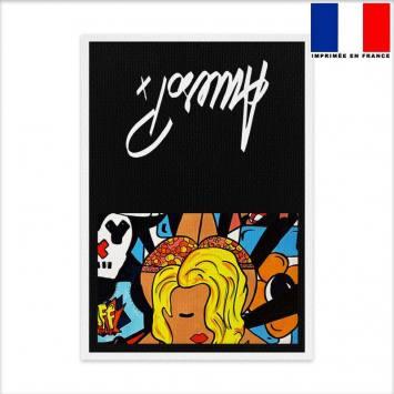 Kit pochette canvas motif pin-up - Création Anne-Sophie Dozoul