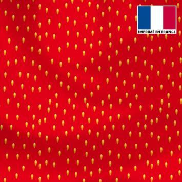 Lycra rouge motif pépin de fraise