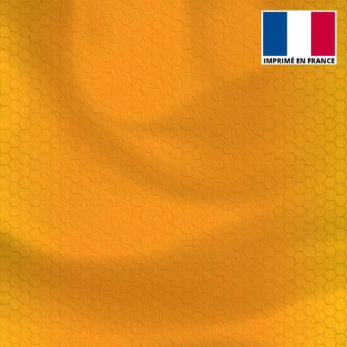 Lycra imprimé dégradé nid d'abeille orange et ocre