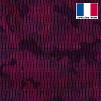 Lycra motif alvéoles et nuances de violet