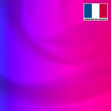 Lycra motif dégradé rose à bleu foncé