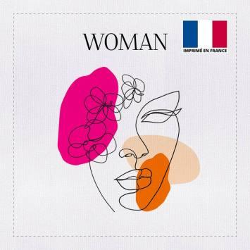Coupon 45x45 cm toile canvas woman