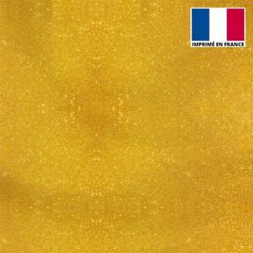 Lycra motif paillettes dorées