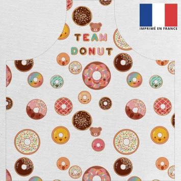 Kit canvas pour tablier motif donuts colorés