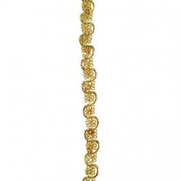 Galon d'ameublement doré à sequins 10 mm