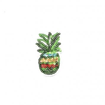 Écusson à sequins ananas vert