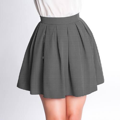 Velours d'habillement motif pied de puce noir et blanc