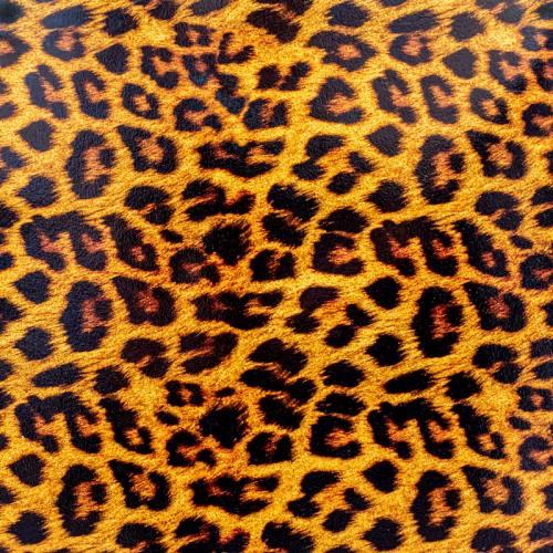 Simili cuir or à paillettes motif léopard