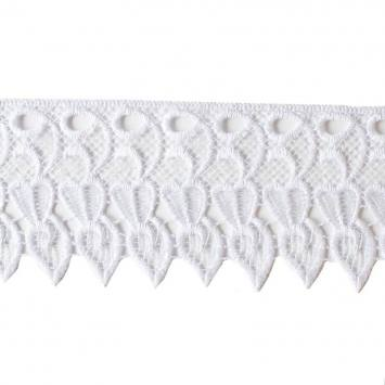 Ruban dentelle guipure 10 cm blanche