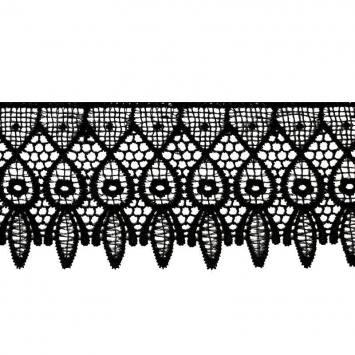Ruban dentelle guipure 10 cm noire