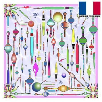 Coupon velours ras violet imprimé potion graphic design - Création Mathilde Lordet