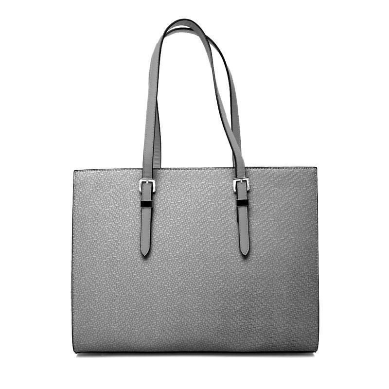 Coupon 50x68 cm - Simili cuir imitation tressage argent