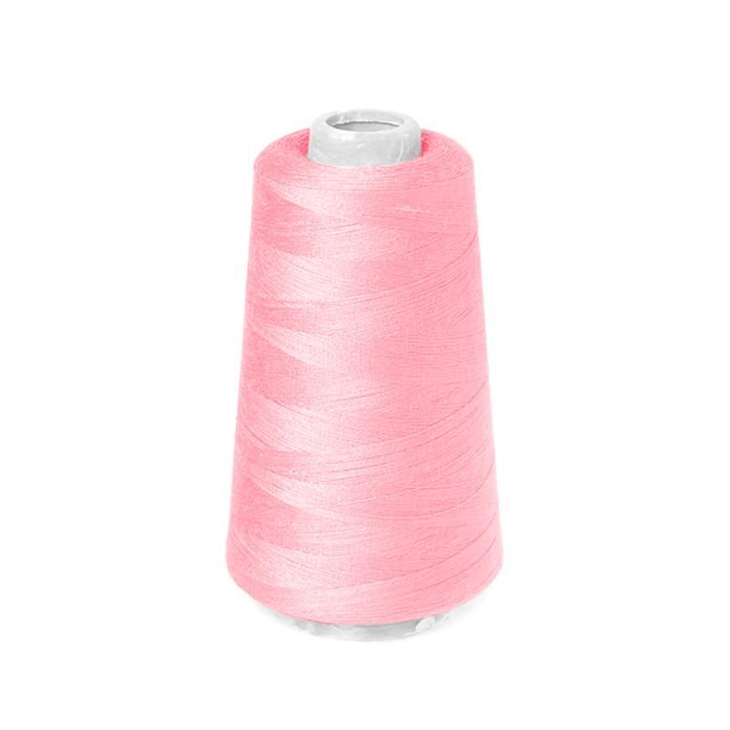 Cône de fil à surfiler et à coudre rose flamant