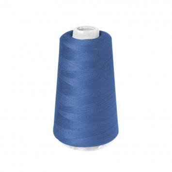 Cône de fil à surfiler et à coudre bleu